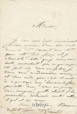 Louise Michel Autograph Letter Signed To Eugene Pelletan