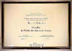 Louise Story Degree Knight Of Arts And Letters Signed André Malraux