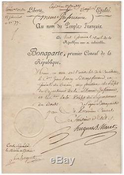 Lucien Bonaparte / Signed Letter (1800) / Co-signed By Maret / Napoleon /