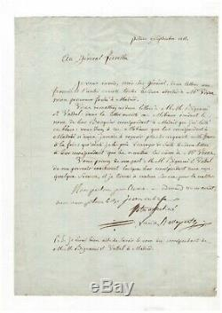 Lucien Bonaparte / Signed Letter (1803) / Italy / Madrid / Napoleon