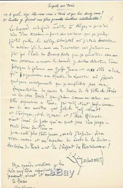 Lucien Lévy Dhurmer A Wandering Jew Autograph Signed In Paris