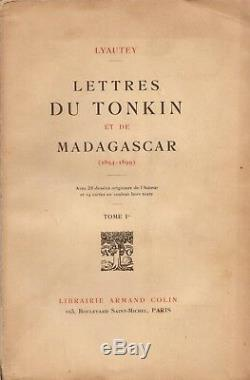 Lyautey Letters Of Tonkin And Madagascar 1894-1899 Sending Autograph Signed