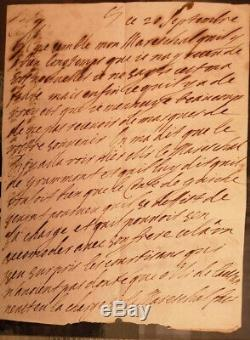 Madame De Maintenon Scarron Autograph Letter Signed In 1671 Youth