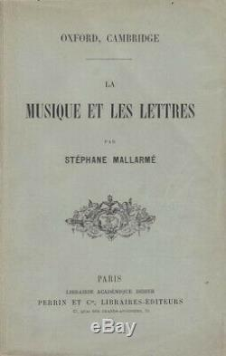 Mallarme Music And Letters Edition Original Sending Autograph Signed