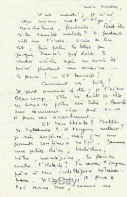 Marc Barbezat Autograph Letter Signed About Camus, Sartre And Modigliani