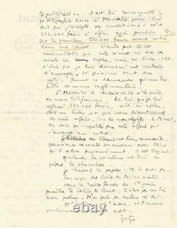 Marc Barbezat Autograph Letter Signed About Jean Genet. 1945