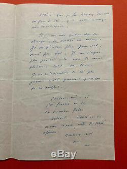 Marcel Jouhandeau Autograph Letter Signed