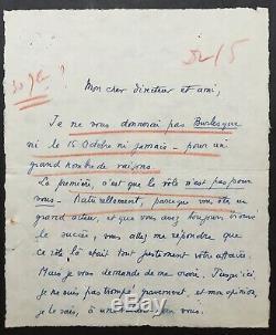 Marcel Pagnol Writer Filmmaker Autograph Letter Signed Sla 4 P 1930