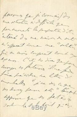 Marcel Proust / Autograph Letter Signed / 7 Pages. The Idiots To Cabourg