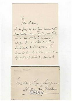 Marcel Proust / Letter Autograph Signed To Germaine Lavignac / Reynaldo Hahn