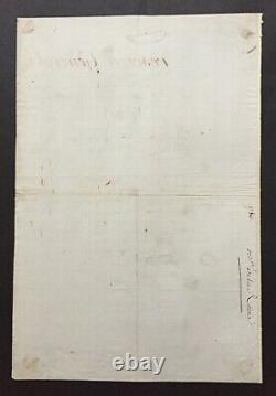 Marie Antoinette Queen Of France Letter / Signed Document -louis XVI Husband 1786