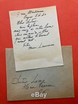 Marie Laurencin Autograph Letter Signed