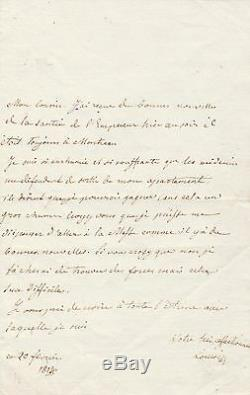 Marie Louise Of Austria Imperatrice Autograph Letter Signed On Napoleon Ier