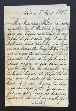 Marie-amélie Queen Of The French Beautiful Autograph Letter Signed To Son 1847, 4p