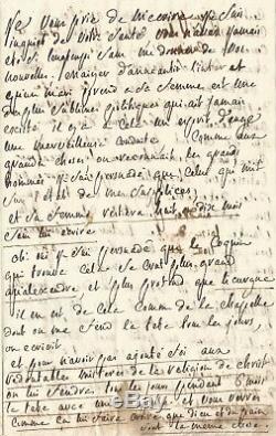 Marquis De Sade Autograph Letter Signed To His Wife. Prison Of Vincennes 1783