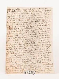 Marquis De Sade Letter Autograph Inedite Manuscript Jail In 1781