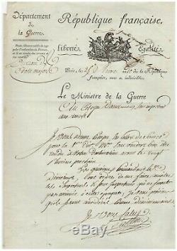 Marshal Berthier / Signed Letter (1802) / Au Citizen Martial Daru / Napoleon