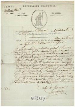 Marshal Jourdan / Signed Letter (1795) / Army Sambre And Meuse / Belgium
