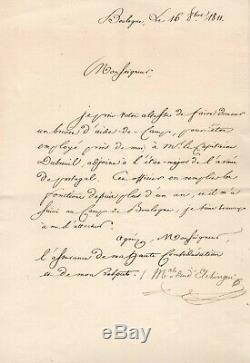 Marshal Ney / Letter Signed (1811) To Alexandre Berthier / Napoleon / Boulogne