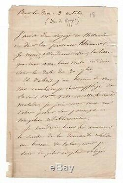 Marshal Oudinot / Autograph Letter Signed (1820) / Bar Le Duc / Napoleon