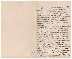 Maupassant (guy De) Beautiful Autograph Letter Signed