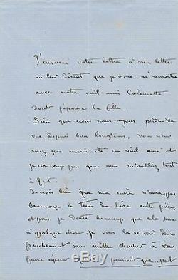 Maurice Sand Autograph Letter Signed George Sand Theater