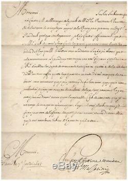 Mazarin / Signed Letter (1645) / Vengeance / Anne D'austria / Richelieu