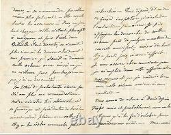 Mialaret Marries Michelet Autograph Letter Signed About Political War 1872
