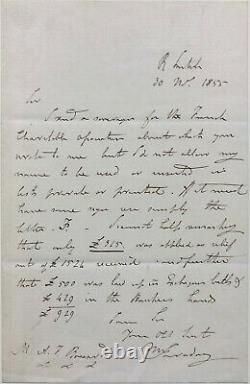 Michael Faraday Signed Autograph Letter