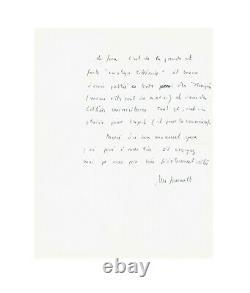 Michel Foucault / Signed Autograph Letter / About Jean Genet & Jean-paul Sartre