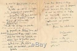 Michel-dimitri Calvocoressi Debussy Coronio Autograph Letter Signed Manuscript