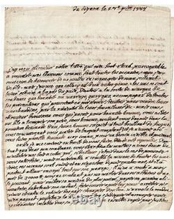 Mirabeau Son And Father Lettre Autograph Signee French Revolution