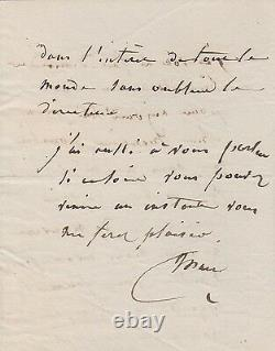 Miss March Autograph Letter Signed Napoleon 1st Stage