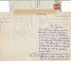 Music Jacques Bizet Son Georges Bizet Autograph Letter Signed Halevy