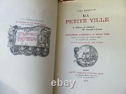 My Little Town Jean Lorrain -1898 Binding Signed Saulnier Autograph Letter