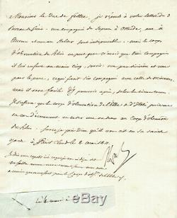 Napoleon 1st Autographed Letter Signed (may 1811) / Organization Artillery