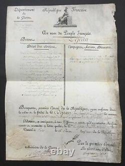 Napoleon Bonaparte Document / Letter Signed General Dejean Aide Camp Emperor