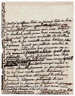 Napoleon Fanny Beauharnais Autograph Letter Signed S. L. N. D