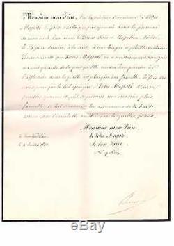 Napoleon III / Letter Signed (1860) / Death Of Jerome Bonaparte