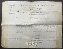 Napoleon I Charles Maurice De Talleyrand Document / Signed Letter 1808