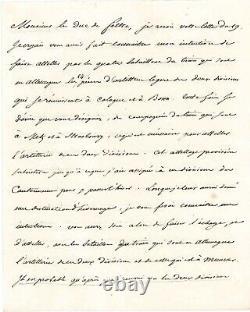 Napoleon I Letter Signed Amsterdam 1811 Artillery Cologne Bonn