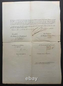 Napoleon Ier Document / Signed Letter Continental Block 1813