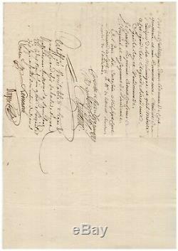 Nicolas De Condorcet / Signed Letter (1777) / Académie Des Sciences