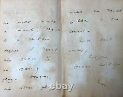 Oscar Wilde Autograph Letter Signed