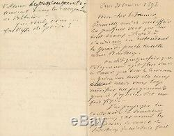 Panama Scandal Charles Limet Autograph Letter Signed Poem Justice Lawyer