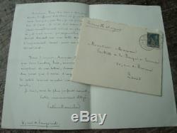 Paterne Berrichon. Signed Autograph Letter. Rimbaud