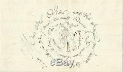 Paul De Kock (1793-1871). Novelist, Librettist. Letter. Signee Autograph 1849