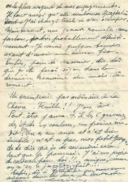 Paul Eluard / Autograph Letter Signed G. Hugnet / Picasso, The Goat Sheet