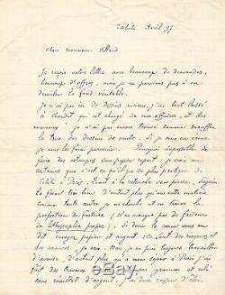 Paul Gauguin Autograph Letter Signed Vollard. Tahiti 1897. Oviri, Killer
