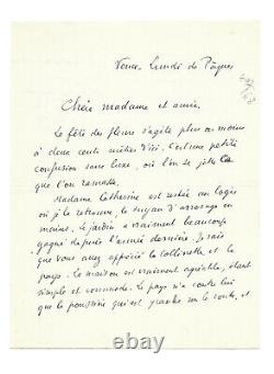 Paul Valery / Autograph Letter Signed / Catherine Pozzi / Vence / Poetry / Nice